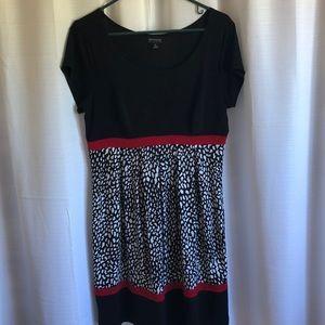 Enfocus Cute black print dress size 12